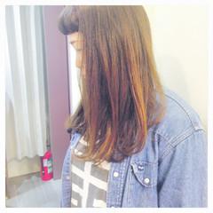 ロング グラデーションカラー インナーカラー ハイトーン ヘアスタイルや髪型の写真・画像