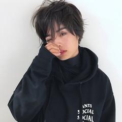 冬 小顔 スモーキーアッシュ 秋 ヘアスタイルや髪型の写真・画像