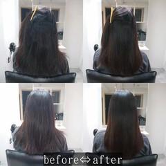 髪質改善 ナチュラル 艶髪 髪質改善トリートメント ヘアスタイルや髪型の写真・画像