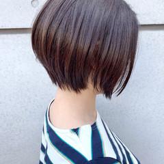 ボブ ミニボブ ナチュラル 大人かわいい ヘアスタイルや髪型の写真・画像