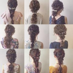 ヘアアレンジ パーティ ロング ゆるふわ ヘアスタイルや髪型の写真・画像