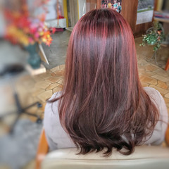 エレガント 髪質改善トリートメント 3Dハイライト コントラストハイライト ヘアスタイルや髪型の写真・画像