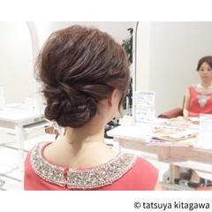 ミルクティー ヘアアレンジ 結婚式 外国人風 ヘアスタイルや髪型の写真・画像