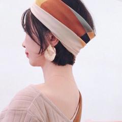 簡単ヘアアレンジ ターバン ターバンアレンジ ナチュラル ヘアスタイルや髪型の写真・画像