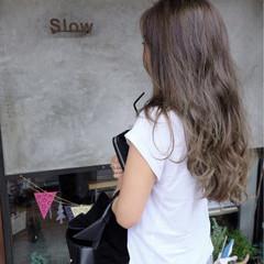 外国人風 アウトドア ロング ストリート ヘアスタイルや髪型の写真・画像