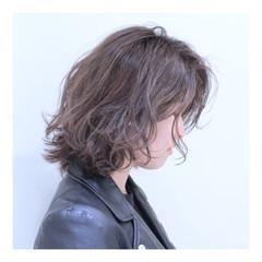 ボブ ストリート グレージュ 外国人風カラー ヘアスタイルや髪型の写真・画像