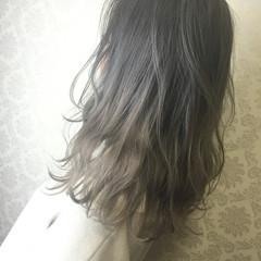 ハイライト ナチュラル グレージュ 夏 ヘアスタイルや髪型の写真・画像