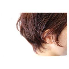 ショートボブ ショート くせ毛風 イルミナカラー ヘアスタイルや髪型の写真・画像
