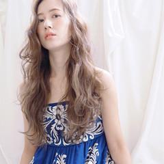 ハイライト フェミニン グラデーションカラー ゆるふわ ヘアスタイルや髪型の写真・画像
