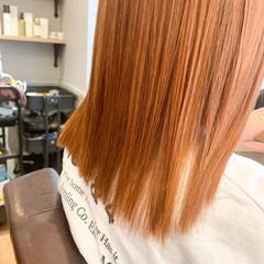 セミロング インナーカラー ショートヘア ベリーショート ヘアスタイルや髪型の写真・画像