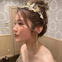 結婚式 デート ナチュラル ヘアアレンジ ヘアスタイルや髪型の写真・画像