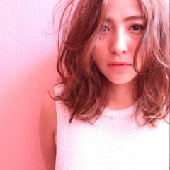 フェミニン ピュア パーマ ガーリー ヘアスタイルや髪型の写真・画像