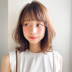 ヘアアレンジ ウルフカット 韓国 ミディアムレイヤー ヘアスタイルや髪型の写真・画像