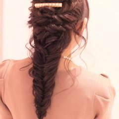 ガーリー ヘアアレンジ モテ髪 ゆるふわ ヘアスタイルや髪型の写真・画像