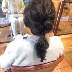 編みおろし 結婚式ヘアアレンジ ヘアアレンジ 編み込み ヘアスタイルや髪型の写真・画像