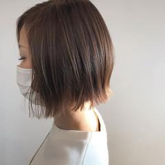 大人女子 大人ヘアスタイル 切りっぱなしボブ 切りっぱなし ヘアスタイルや髪型の写真・画像