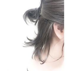 アッシュ ボブ 暗髪 ストリート ヘアスタイルや髪型の写真・画像