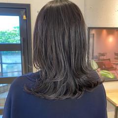 暗髪 ナチュラル アッシュグレージュ 透明感カラー ヘアスタイルや髪型の写真・画像