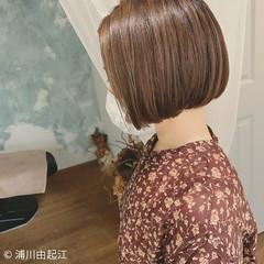 モテ髪 ミニボブ ナチュラル 秋冬スタイル ヘアスタイルや髪型の写真・画像