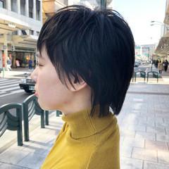 ウルフ女子 ウルフカット ショート ニュアンスウルフ ヘアスタイルや髪型の写真・画像