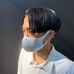 黒髪 ショート ナチュラル メンズマッシュ ヘアスタイルや髪型の写真・画像