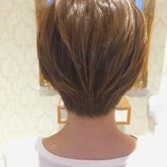 ブラウン ショート ストリート 外国人風 ヘアスタイルや髪型の写真・画像