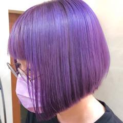 ハイトーンカラー ストリート ハイライト ハイトーンボブ ヘアスタイルや髪型の写真・画像