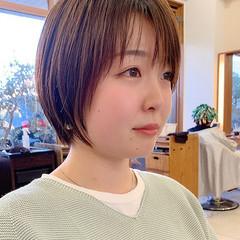 前髪 大人可愛い ショート ナチュラル ヘアスタイルや髪型の写真・画像