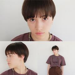 ショート 黒髪 マッシュ かっこいい ヘアスタイルや髪型の写真・画像