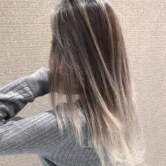 外国人風カラー バレイヤージュ ミディアム 外国人風 ヘアスタイルや髪型の写真・画像