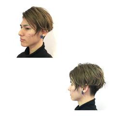 外国人風 グラデーションカラー メンズ ストリート ヘアスタイルや髪型の写真・画像