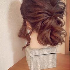 ロング ヘアアレンジ 上品 大人かわいい ヘアスタイルや髪型の写真・画像