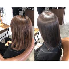 美髪矯正 ナチュラル ヘアケア 縮毛矯正 ヘアスタイルや髪型の写真・画像