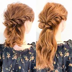 ロング エレガント 簡単ヘアアレンジ セルフヘアアレンジ ヘアスタイルや髪型の写真・画像