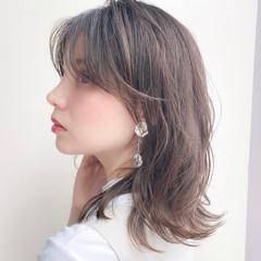ナチュラル 透明感カラー ミディアムヘアー ミディアム ヘアスタイルや髪型の写真・画像