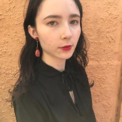抜け感 デート パーマ エレガント ヘアスタイルや髪型の写真・画像