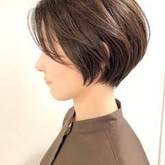 ショートヘア デート 大人かわいい ショートボブ ヘアスタイルや髪型の写真・画像