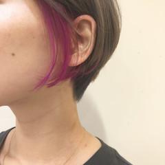 ガーリー グレージュ ショートヘア ショートボブ ヘアスタイルや髪型の写真・画像