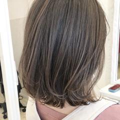 イルミナカラー 外ハネボブ ナチュラル ボブ ヘアスタイルや髪型の写真・画像