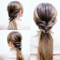 フェミニン セルフヘアアレンジ ヘアアレンジ ショート ヘアスタイルや髪型の写真・画像