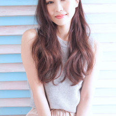 外国人風カラー イルミナカラー ワンカール パーマ ヘアスタイルや髪型の写真・画像