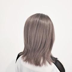 ハイライト 透明感 髪質改善トリートメント ブリーチ ヘアスタイルや髪型の写真・画像