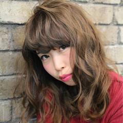 フェミニン ガーリー パーマ キュート ヘアスタイルや髪型の写真・画像