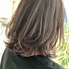 ラベンダーカラー ラベンダー ラベンダーグレージュ ラベンダーグレー ヘアスタイルや髪型の写真・画像