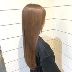 ナチュラル ベージュ ミルクティーベージュ ロング ヘアスタイルや髪型の写真・画像