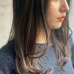 ゆるナチュラル セミロング ナチュラル ミディアムレイヤー ヘアスタイルや髪型の写真・画像