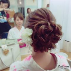 和装 夏 ヘアアレンジ ミディアム ヘアスタイルや髪型の写真・画像