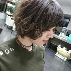 モード ボブ 冬 ヘアスタイルや髪型の写真・画像