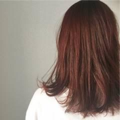 外国人風 マルサラ 秋 ストリート ヘアスタイルや髪型の写真・画像