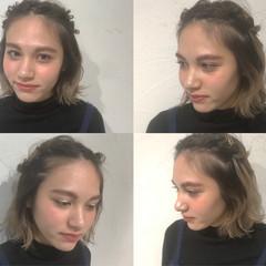 簡単ヘアアレンジ グラデーションカラー 外国人風カラー ヘアアレンジ ヘアスタイルや髪型の写真・画像